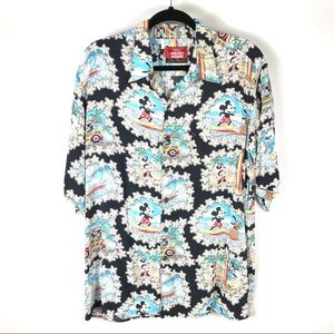 Reyn Spooner Large Mickey Mouse Hawaiian Shirt
